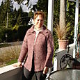 Fleece Artist garter stitch cardigan - Felted!