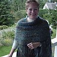 Bias shawl