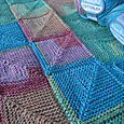 Mitred Square Baby Blanket