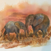 Elephants - mom and babe SOLD