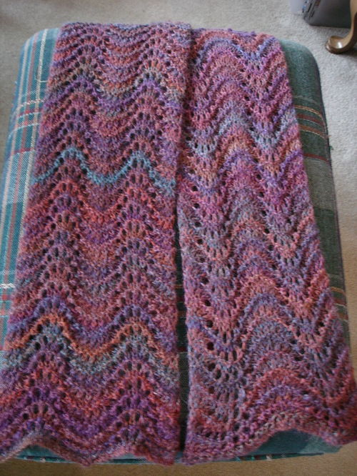 Misty Garden Feather and Fan Scarf